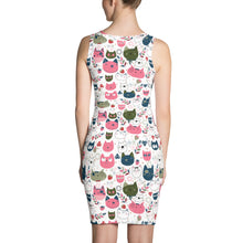 Cute Pink Cats Sublimation Cut & Sew Dress