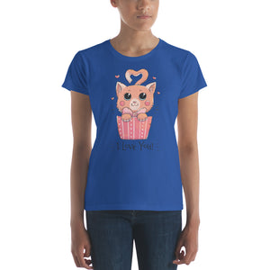 Cat Loves You Women's short sleeve t-shirt