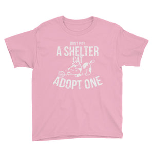 Don't Pity A Shelter Cat Adopt One Youth Short Sleeve T-Shirt