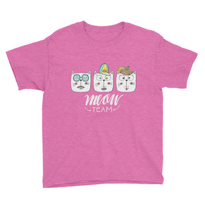The Meow Team White Youth Short Sleeve T-Shirt