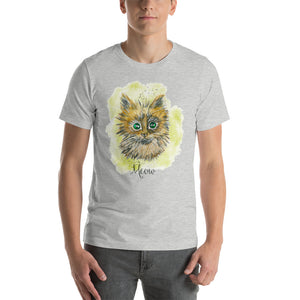 Watercolor Cat Short-Sleeve Unisex T-Shirt
