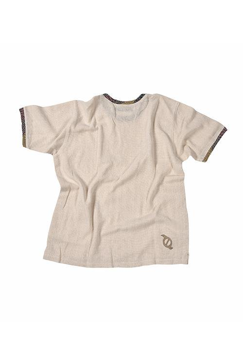 JAIRO T-SHIRT - HANDWOVEN COTTEN TEE - NATURAL ROUGH
