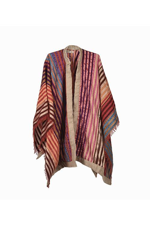 KASBA - Handwoven Artisanal Cape  - Natural Rough