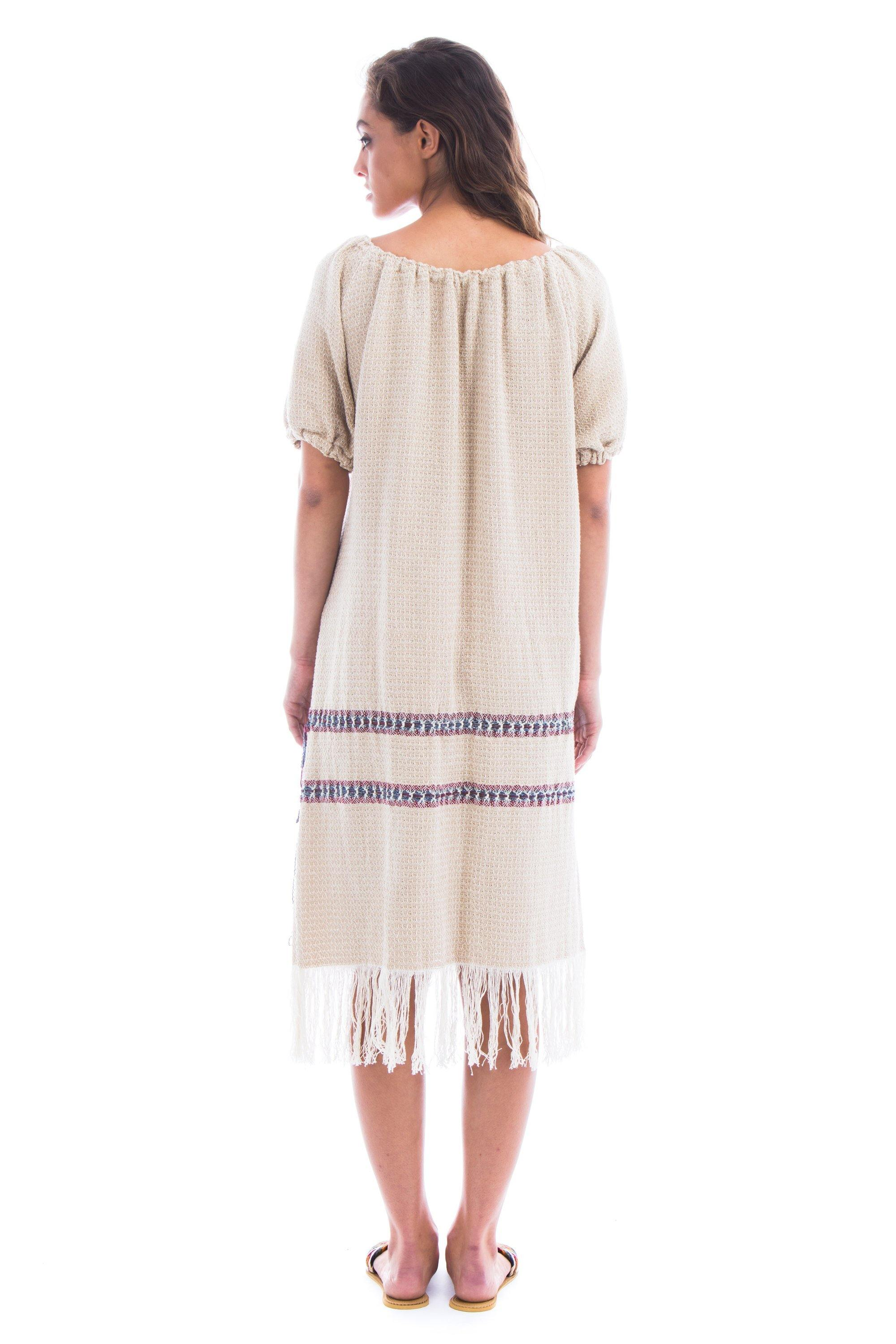 natural-rough-dress-beige-weaving-cotton-handcrafted-arisanal