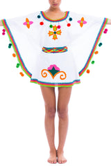natural-rough-caftan-mini-dress-hand-embroidery-handcrafted-artisanal-wayuu-white-flowers