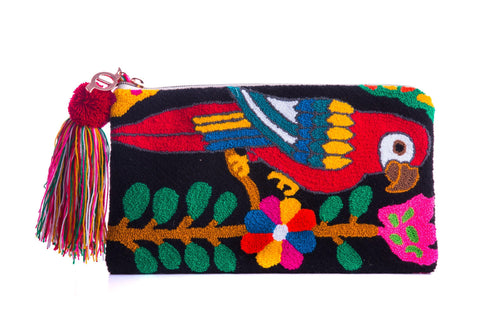 MIGTZA GUACAMAYA - WAYUU WOVEN BAG - NATURAL ROUGH