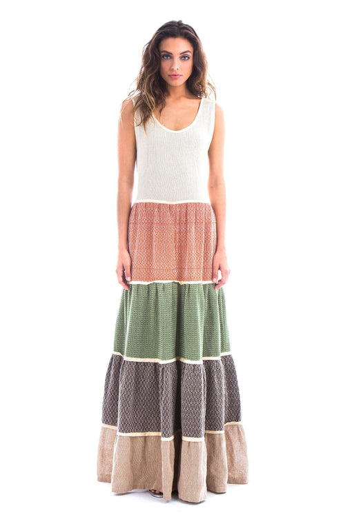 DANIELA ELENA - HANDWOVEN COTTON DRESS - NATURAL ROUGH
