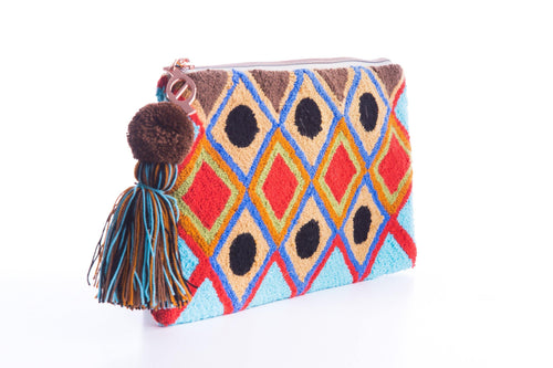 MIGTZA NET NATURAL - HANDWOVEN WAYUU BAG - NATURAL ROUGH