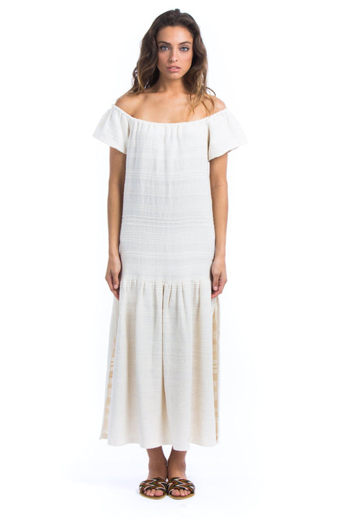 natural-rough-dress-offwhite-weaving-cotton-handcrafted-arisanal