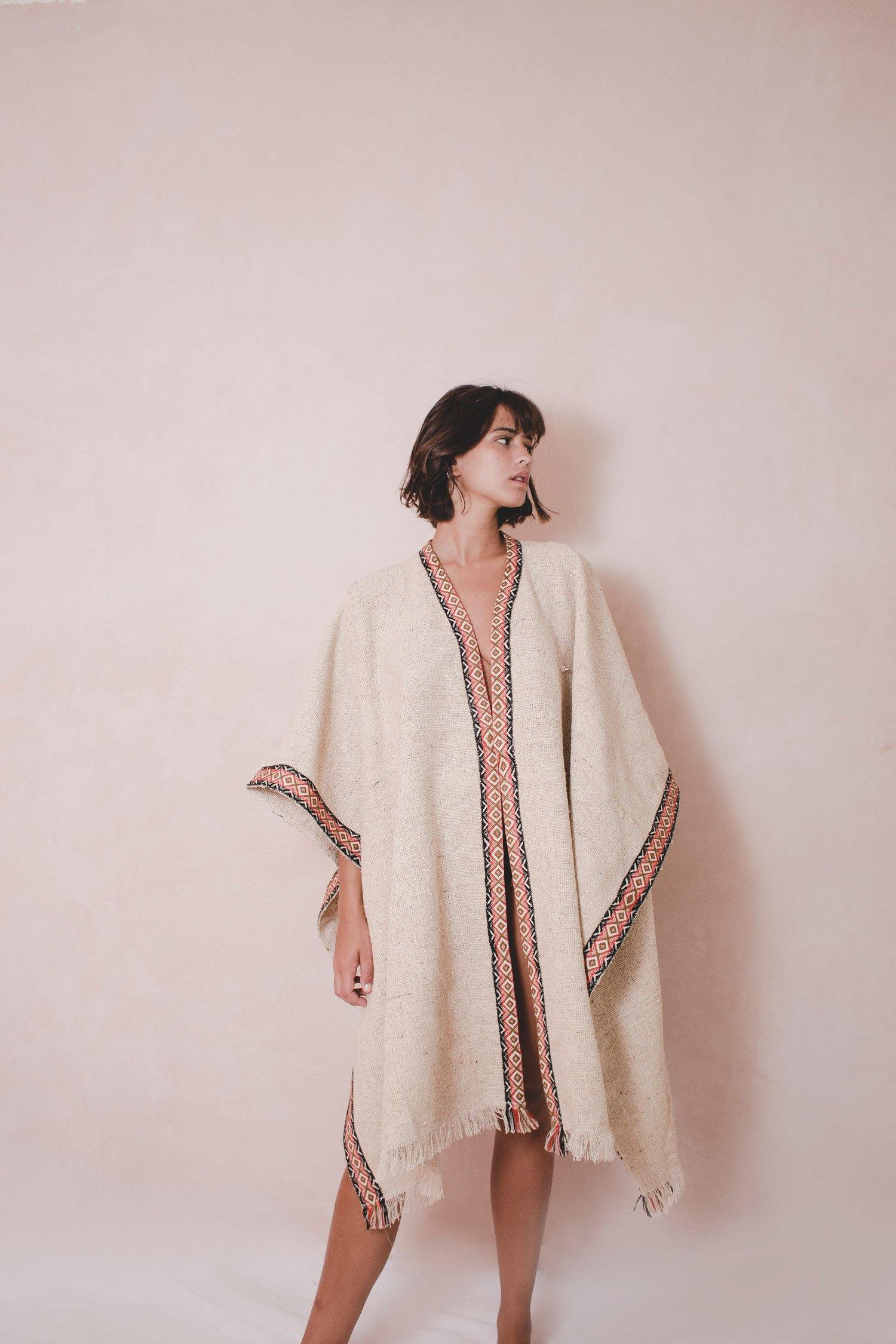NAT RUG - Handwoven Artisanal Cape - Natural Rough