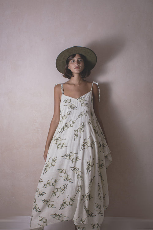 Michela Cotton - Handwoven Artisanal Dress - Natural Rough