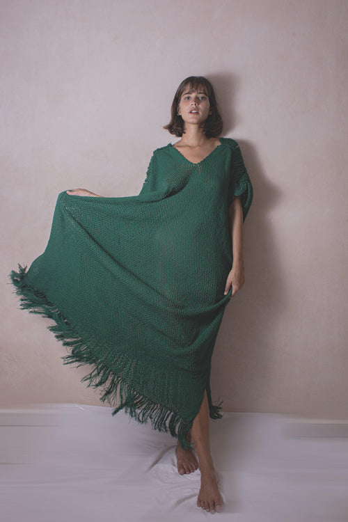 ALESSIA TERRA - Handwoven Artisanal Dress  - Natural Rough