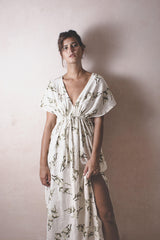 Natasha Cotton - Linen Handwoven Dress - Natural Rough