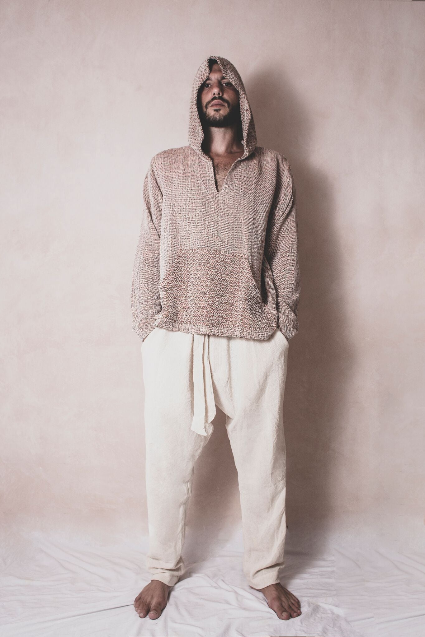 Mara pants - Handwoven Cotton Pants - Natural Rough
