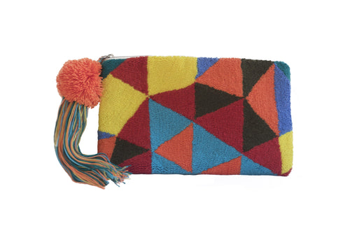 MIGTZA SOL GEO - WAYUU WOVEN BAG - NATURAL ROUGH