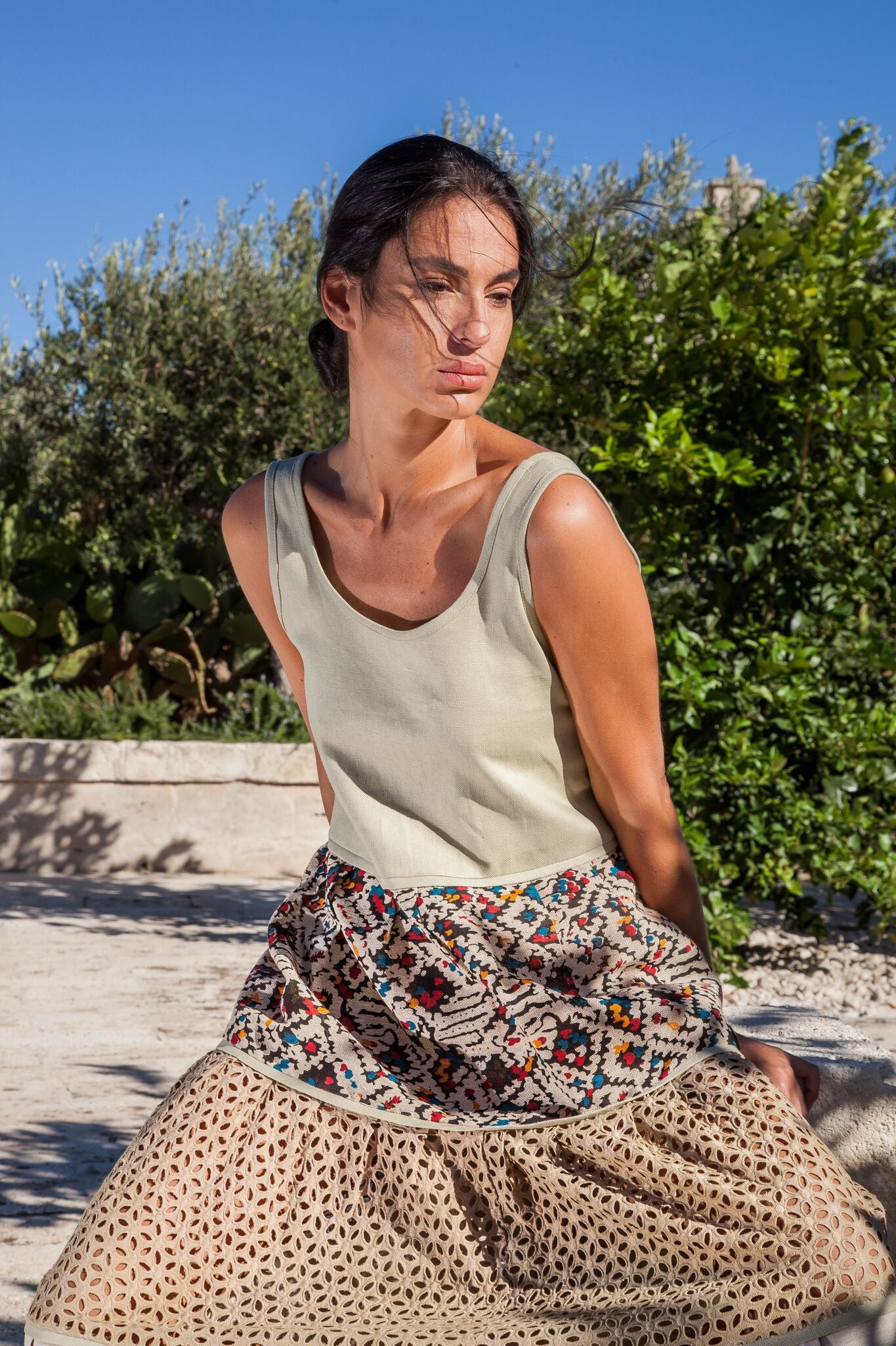 DANIELA DUBAI - Artisanal Cotton Dress - Natural Rough