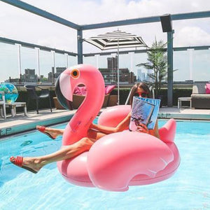Pink Giant Inflatable Flamingo Pool Float