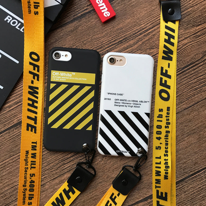 enorme sconto c05a1 7badd Gold Off-White iPhone Case