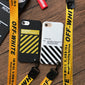 Gold Off-White iPhone Case