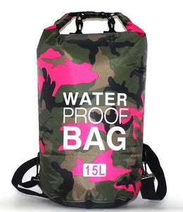 Waterproof Dry Bag 5L-30L Camo Outdoor Diving Foldable Man Women Beach Swimming Bag Rafting River Ocean backpack