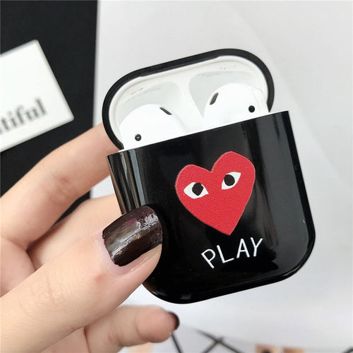 CDG Play AirPod Case - Black