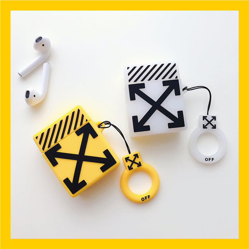 OFF White Twill Airpod Case