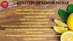 Health Benefits of Lemon Pickle