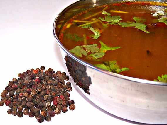 Cure cough & cold by drinking piping hot pepper rasam