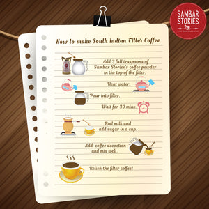 How to Make South Indian Filter Coffee