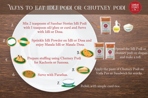 7 ways to eat Idli Podi or Chutney Pudi