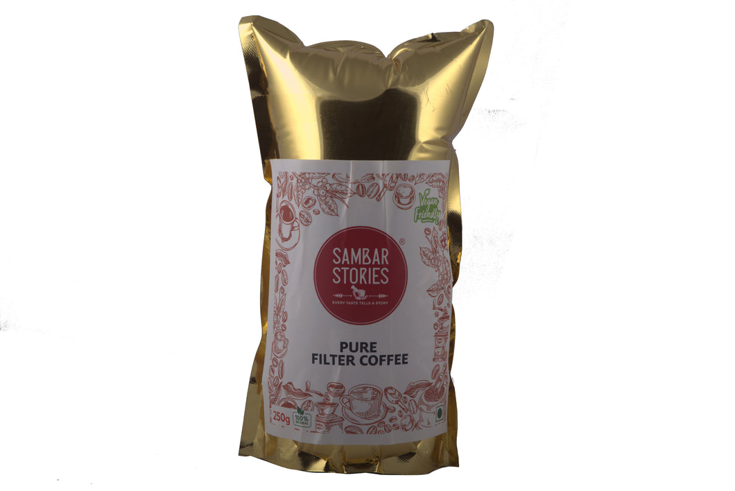 Pure Filter Coffee Powder (No added chicory) - Sambar Stories