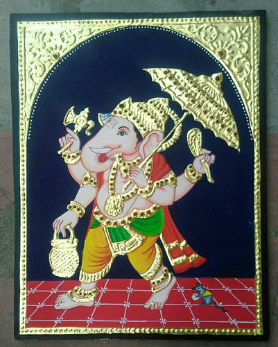 Ganesha Tanjore Painting - Sambar Stories