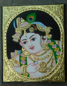 Krishna Tanjore Painting - Sambar Stories