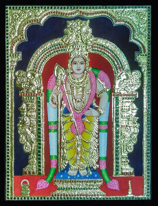 Lord Murugan Tanjore Painting - Sambar Stories
