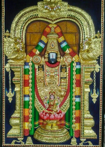 Lord Venkateswara Tanjore Painting - Sambar Stories