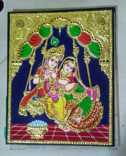 Radha Krishna Tanjore Painting - Sambar Stories