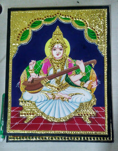 Saraswati Tanjore Painting - Sambar Stories
