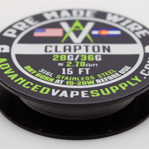 Advanced Vape Supply - SS316L Clapton Wire Spool 15ft Nimbus Vapour