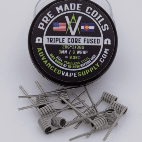 Advanced Vape Supply - Pre-Built SS316L Clapton Coils 10-Pack - Nimbus Vapour
