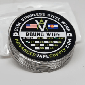 Advanced Vape Supply - 316L Round Wire Spool 50ft Nimbus Vapour