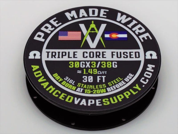 Advanced Vape Supply - SS316L Fused Clapton Spool 15ft Nimbus Vapour