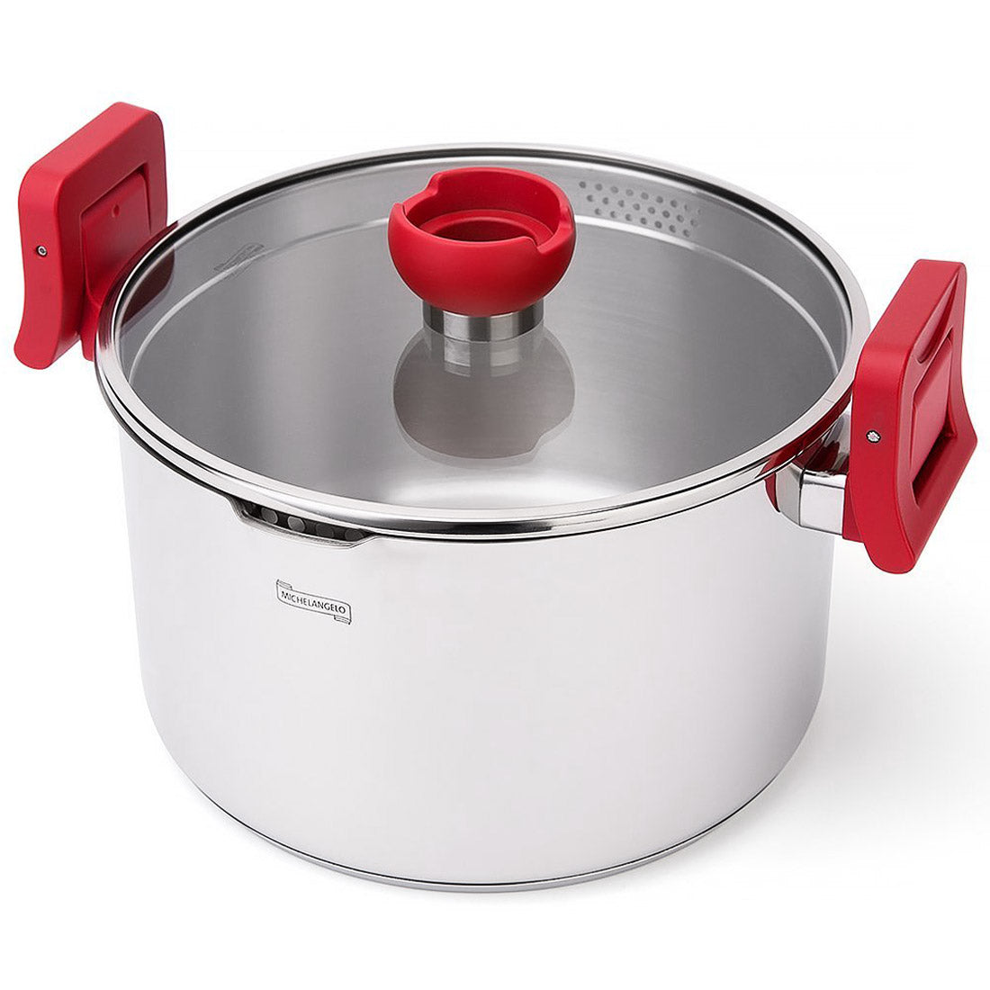 Michelangelo 5 Quart Pasta Pot Induction Ready Stainless Steel