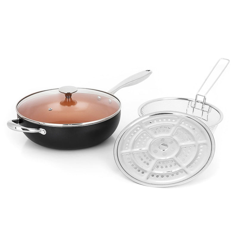 Michelangelo 5 Quart Nonstick Woks And Stir Fry Pans With