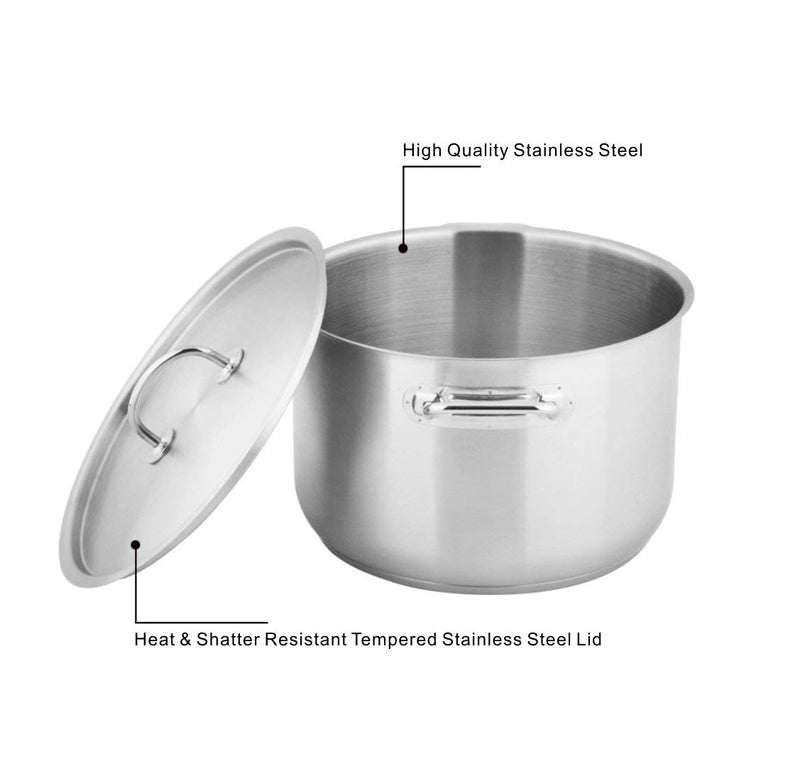 MICHELANGELO Stainless Steel Induction Pot 8 Quart, Large Cooking Pots for Soup, 8 Quart Stock Pot with Lid, Stainless Steel Soup Pot 8 Quart, Sauce Pot with Lid, Induction Compatible Pot