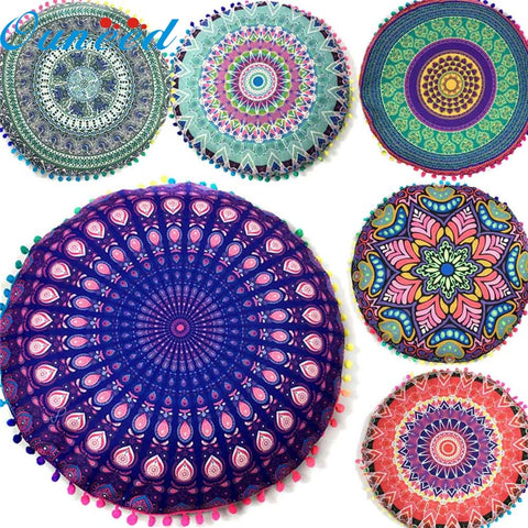 New Indian Mandala Floor Pillows - 9 Styles To Chose From!