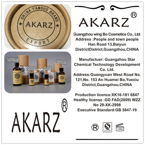 New AKARZ Natural Aromatherapy Chamomile Essential Oil