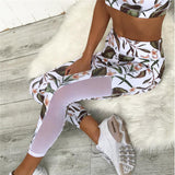 New Sexy Mesh Floral Yoga Top & Leggings Set