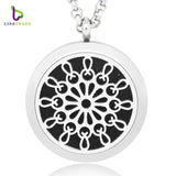 New Aromatherapy Pendant With Chain + 6 pads