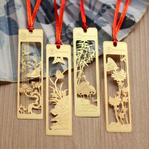 New Beautiful Metal Bookmark Set of 4