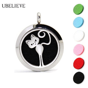 New Cute KITTY Aromatherapy Necklace + 6 pads